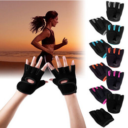 Wholesale Exxcellent Womens MANS Weight Lifting Gloves Fitness Glove Gym Exercise Training