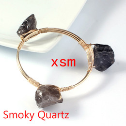 New Arrival, Natural Original Rock Bracelet, Handwork Winding Smoky Quartz Original Rock Beads Friendship Bracelets For Women