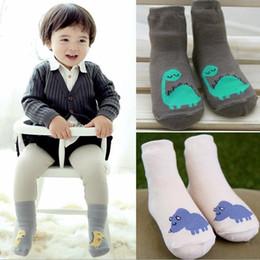 Kids Cartoon Dinosaur Socks Baby Boys Girls Cotton Socks Infant Non-slip Winter Warm Leg Warmers Animal Mid-long Boots Cuffs Sock 10874