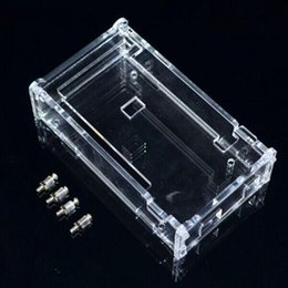 Wholesale Enclosure Transparent Gloss Acrylic Box Compatible for arduino Mega R3 Case for Electronic Components case