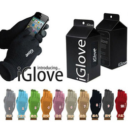 Wholesale Touch Screen Gloves Retail Package High end Iphone C S S Ipad Smart Phone Warm Winter Best Quality Iglove Unisex Functiona Gloves