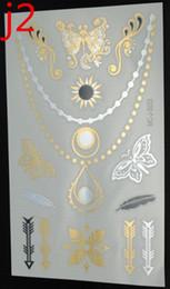 Wholesale-flash golds tattoos tattoo flash flower rose stickers metallic tattoos tattoo jewelry lace stickers