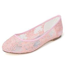 Zapatos de damas de honor negro baratos en Línea-2015 zapatos de boda barato del dedo del pie zapatos de tacón bajo de encaje transparente de novia fiesta por la noche de baile vestidos de dama zapatos Rojo Blanco Negro Rosa Marfil 9872-20