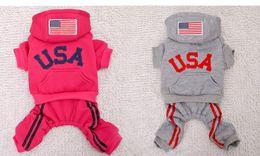 Wholesale 2014 new winter cotton pet clothes pet USA dream team sport coat thickened pet dog apparel