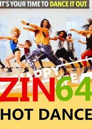 Hot Sale 2016.8 New South America HOT DANCE ZIN 64 Comprehensive dances ZIN64 Video DVD + Music CD