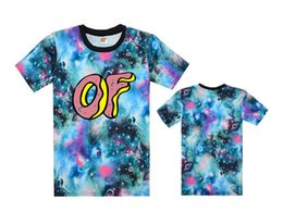Wholesale NEW Hot Floral Odd future OF tee shirts galaxy men s classic summer t shirts bboy hiphop flower t shirt without MOQ
