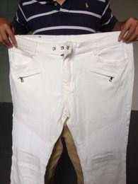 Wholesale cotton Balmain zipper motocycle jeans windproof jeans men free shippping
