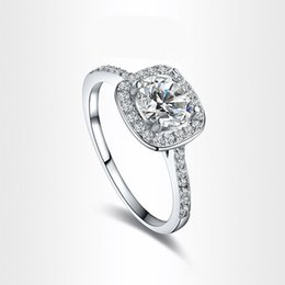 Wholesale High quality fashion silver rings for women diamond crystal statement wedding rings infinity charms from China