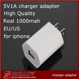 Wholesale A mah Wall Charger Adapter EU US Plug V A USB Wall Charger Adapter r for iPhone s for ipad iPod iTouch HTC Samsung