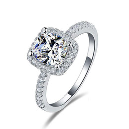 Latest Design Beautiful Cheap Engagement Rings for Women Hot Selling Exquisite Bridal Jewelry in Stock Factory Directly