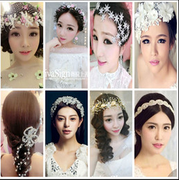 Women Girl Bride Boho Flower Headband Festival Wedding Floral Garland Hair Band Headwear Accessories Wholesale Head Band Hair 10 Styles