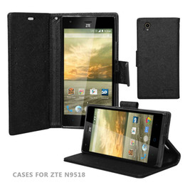 Hot Sell Flip Holder stand PU Leather Wallet For ZTE N9518 Shockproof Cell Phone Case With Card Slot