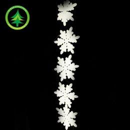 15cm foam fish line 5 snowflake Christmas ornaments Christmas decorations Christmas tree ornaments accessories