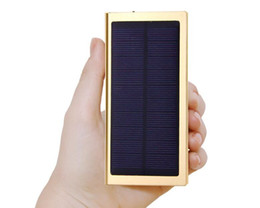 Customized LOGO 10000mAh Ultra Thin Super Slim Matal Solar Power Bank External Battery Pack Mobile USB Charge free shipping gift