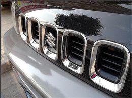 Wholesale Chrome front grille vent hole frame trim cover insert for Suzuki Jimny per set M4948