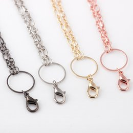 10pcs lot Free Shipping Fashion Necklace For Glass Living Floating Locket Metal Long Chain Necklace
