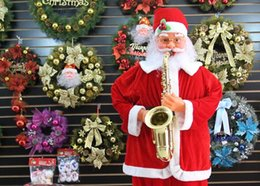 Wholesale DHL Free Shopping meter Santa Claus Hotel and Store display Electric induction Santa Claus musical performance Father Christmas display