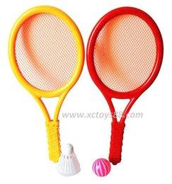 Al por mayor-mesa de plástico de raqueta de tenis juguetes de la diversión al aire libre de los juguetes educativos deportes Suit del juego de los niños desde juguete de la raqueta de tenis proveedores