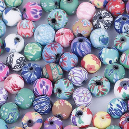 Wholesale 100pcs mm Polymer Clay Loose Beads Fashion Jewelry For Necklace Bracelets DIY ZDC1