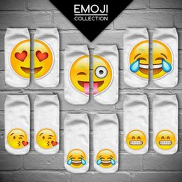 Wholesale 2016 Emoji Socks Ladies Sock Slippers Women s Socks Ankle Socks For Women Girls Socks Teenagers Autumn Winter Socks Cute Socks Low Cut Socks