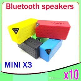 Wholesale Cheaper Portable mini Wireless Bluetooth Speaker with MIC TF card slot FM audio Water Cube X3 Shape ZY YX