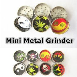 Wholesale Mini Metal Tobacco Grinder BOB MARLEY LEAF RASTA Smoking Crusher hand rolled Herbal Spice Muller Crusher Grinder
