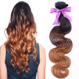 7A Wet And Wavy Brazilian Virgin Hair Ombre Body Wave 3 Tone Color T1B 4 30 Unprocessed Human Hair Extension Cheap Raw Hair Bundles 4pcs lot