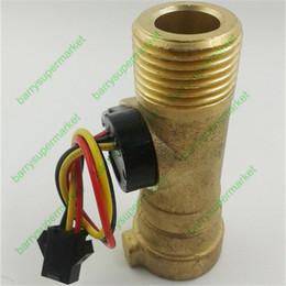 Wholesale G1 Electronic Flow Meter Electronic Flow Sensor L M for solar water heater water flow meter