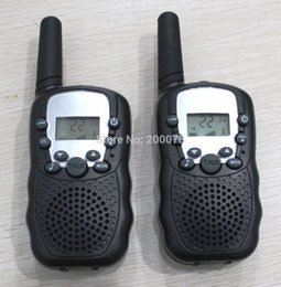 Wholesale-2015 New radio walkie talkie pair T388 PMR FRS radios VOX hand-free talkie radios earphones w  led  + 99 private code