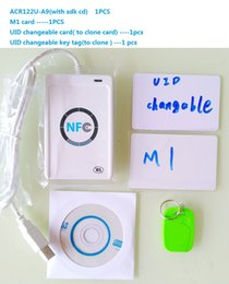 Wholesale NFC ACR122U RFID smartcard USB Port Contactless Smart Card Reader Writer with Mifare IC Access Control Card Compliance ISO