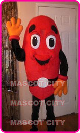 Wholesale MASCOT CITY Professional Custom Kidney Bean Mascot Costume Adult Kidney Bean Theme Cartoon Anime cosply Mascotte Fancy Dress Kits SW1813
