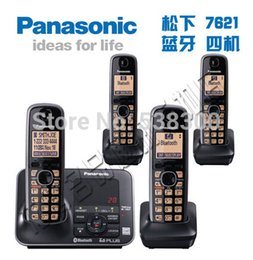 Wholesale KX TG7621 DECT Link To Cell via Bluetooth Cordless Phone Black Handsets Wireless Big House Home Telephone