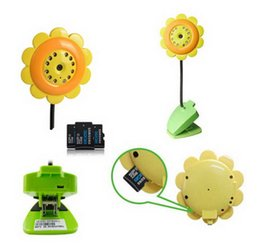 Wholesale New Flower Wireless WIFI Camera Baby Monitor Night Vision Mic For IOS Android Wifi Camera