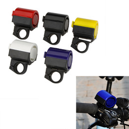 Wholesale 360 Degree Rotation MTB Road Bicycle Bike Electronic Bell Loud Horn Cycling Hooter Siren Accessory Blue Yellow Black Red White Y0035