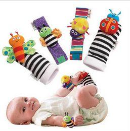 Chaussettes lamaze hochet à vendre-Bébé chaussettes sozzy poignet hochet pied finder bébé jouets pour bébé Hochet Chaussettes Lamaze Peluche poignet Rattle + Pied bébé Chaussettes D64 300lots