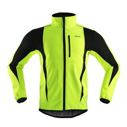 ARSUXEO Thermal Cycling Jacket Winter Warm Up Bicycle Clothing Windproof Waterproof Soft shell Coat MTB Bike Jersey