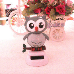 Wholesale Solar Power Car Dancing - Wholesale-Free Shipping Swing Under Full Light Solar Powered Energy Gifts Novelty Home&Car Decoration Solar Powered Dancing Owl