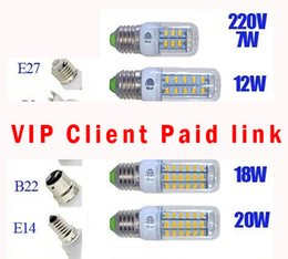 Wholesale Private custom link just paid by vip client for any product Lights Ultra Bright SMD Led Corn Lights AC V V Christmas day