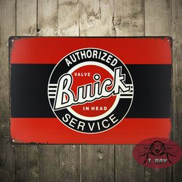 Wholesale BUICK Authorized Service Metal Tin Sign Man Cave Garage Bar Game Rm Shop