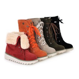 Wholesale 2015 Hot Fashion Colors Women Boots Ladies Vintage Ankle Motorcycle Boots Brand New Flats Botas Femininas Snow Boots