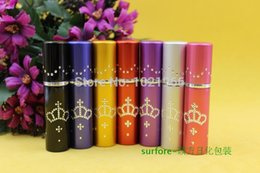Wholesale 5ml Crown Point drill pipe anodized aluminum perfume bottle perfume packaging Travel perfume bottles
