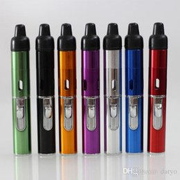Wholesale Click N Vape sneak a vape Mini Herbal Vaporizer smoking pipe Trouch Flame Lighter With Built in Wind Proof Torch Lighters best quality