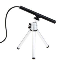 Wholesale Mini HD LED Portable Lupas Fe Aumento X USB Digital MP Pen Manual Focus Microscope Endoscope Magnifier Camera with Tripod H13925