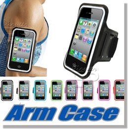 Wholesale Note Case iPhone Armband ArmTrek Sports Exercise Armband for Apple iPhone iPhone S Case Running Pouch Touch Compatible Key Holder