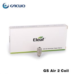Authentic Eleaf GS Air 2 Atomizer Head Pure Cotton Head 0.75ohm Replacement Coils Fit for iStick Basic Kit GS-Air 2 Atomizers