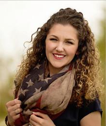 2015 New Fashion viscose Vintage American Flag Infinity Scarfs Snood USA Women Scarves Shawls