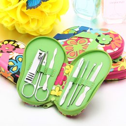 Wholesale Slippers shape Nail tools set Nail Clipper Kit Stainless Steel Manicure Set With PU Bag best for gift