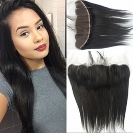 G-EASY 13x4 Lace Frontal Closure straight peruvian Frontal Unprocessed Lace Front Closure Cheap Lace Frontals piece With Bleached Knots