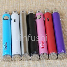 Wholesale USB Passthrough UGO twist battery electronic cigarette mah mah UGO V Twist battery variable voltage v v battery accept paypal