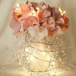 Edison2011 2M 3M 4M 5M 10M Battery String Mini LED Silver Copper Wire String Light Battery Operated Fairy for Party Wedding Christmas